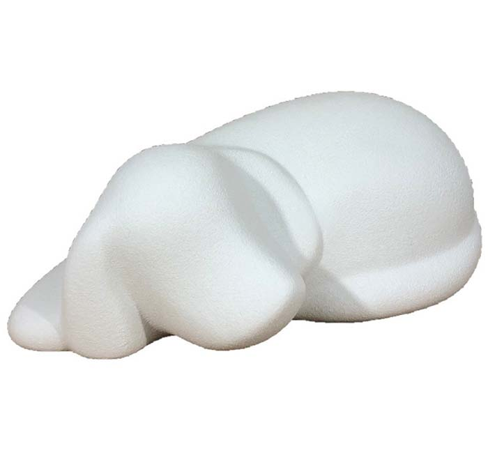 Honden Urn of Asbeeld Wit (0.5 liter)