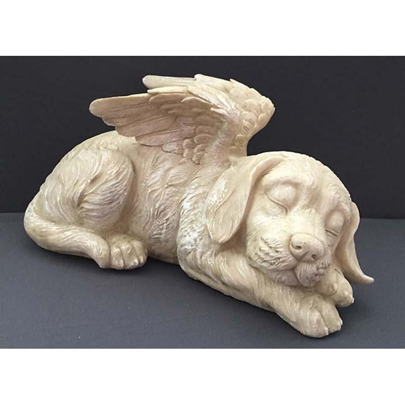 Honden Urn of Honden Asbeeld, Hond met Engel Vleugels (1 liter)