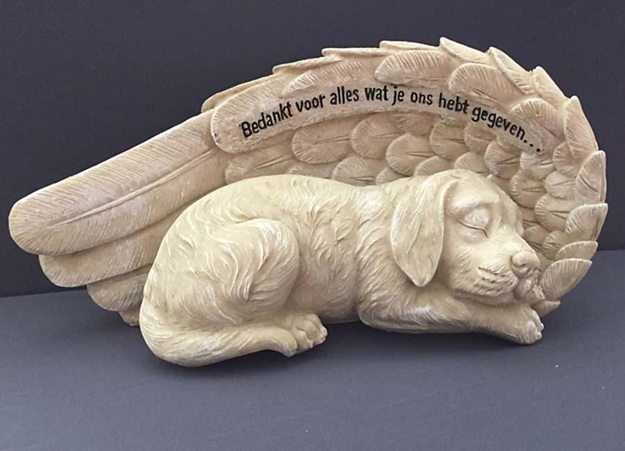 Honden Urn of Honden Asbeeld, Hond met Engel Vleugels (1.8 liter)