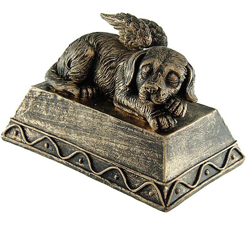 Hondenurn of Honden Asbeeld, Hond met Engel Vleugels (0.8 liter)
