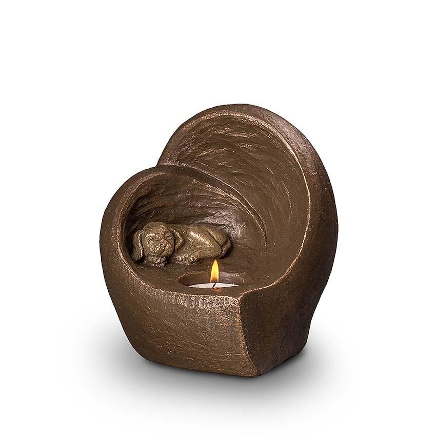 Keramische Honden Urn Eeuwige Slaap (0.5 liter)