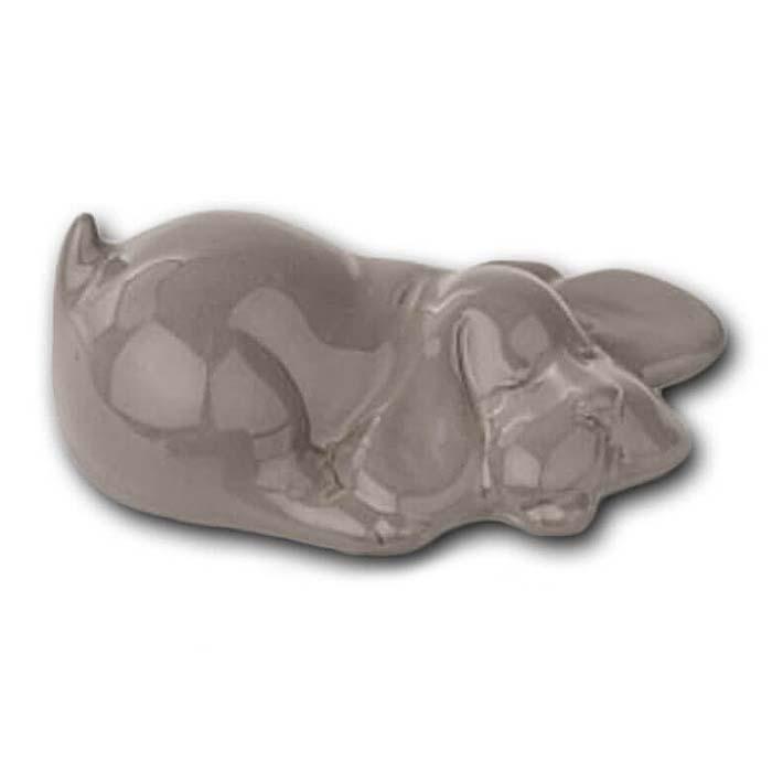 Meerkleurige Mini Dierenurn Slapend Hondje (0.11 liter)