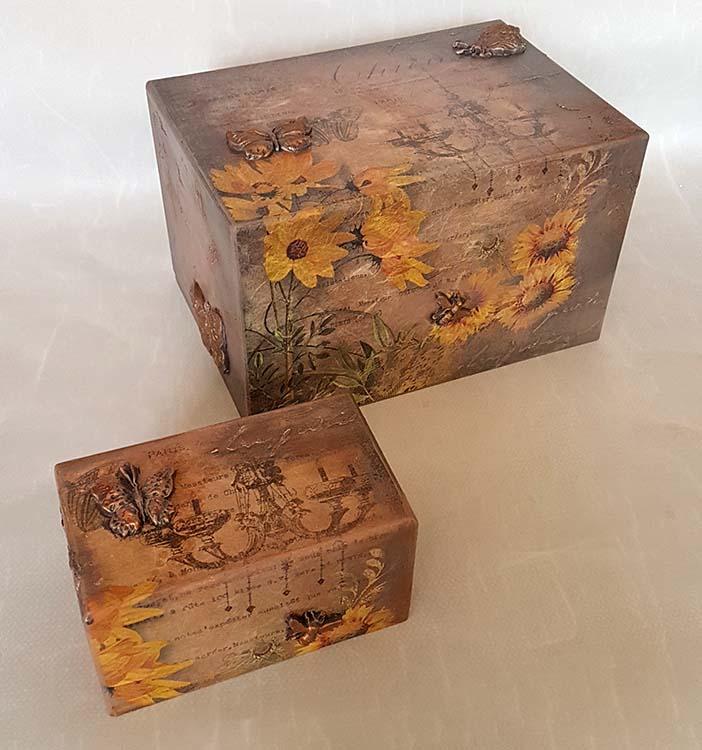 Design Urnen Voordeelset Vlinders Zonnebloemen (3.9 liter)