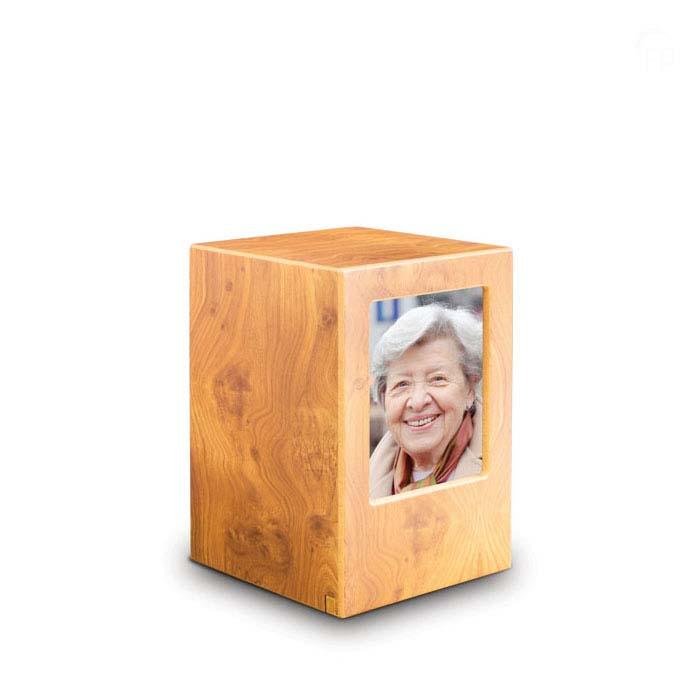 Grote MDF Photobox Urn Grenen (3.5 liter)