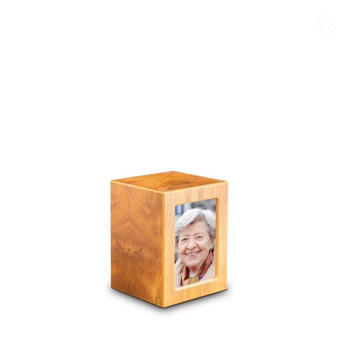 Kleine MDF Photobox Urn Grenen (1.5 liter)