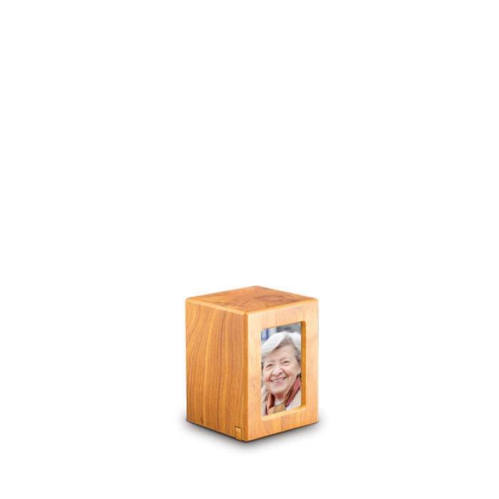 Mini MDF Photobox Urn Grenen (0.3 liter)