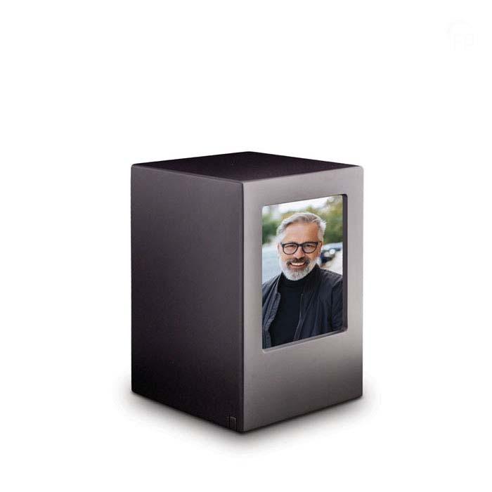 Grote MDF Photobox Dierenurn Antraciet (3.5 liter)