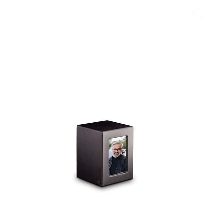 Mini MDF Photobox Urn Antraciet (0.3 liter)