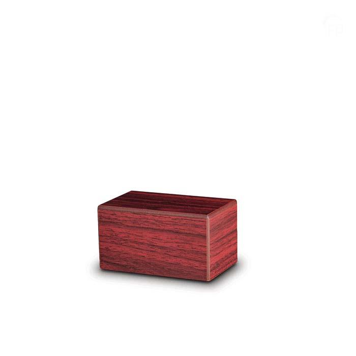Mini Kist Urn of Assokkeltje Mahonie (0.4 liter)