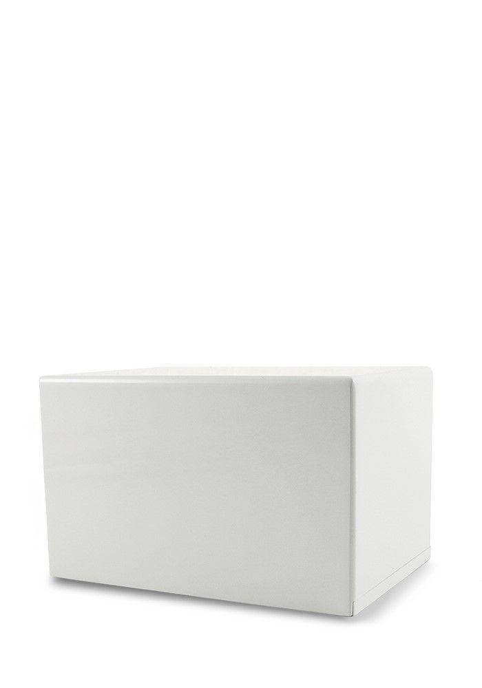 Grote Kist Dierenurn of Sokkel Urn Hoogglans Wit (3.5 liter)