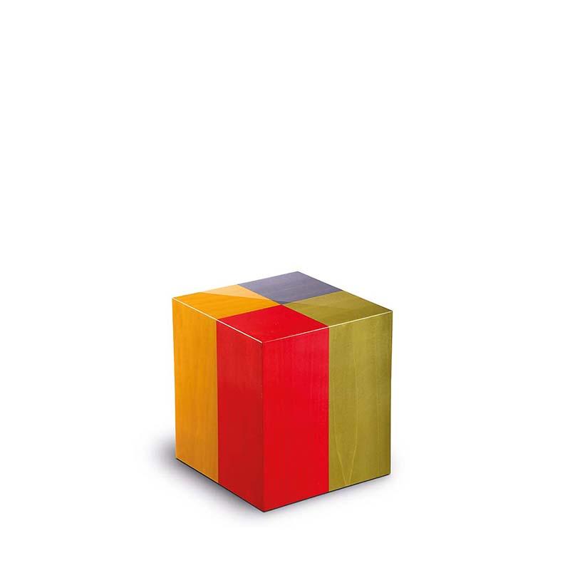 Rechthoekige Miniurn Fenice Arlecchino (0.1 liter)