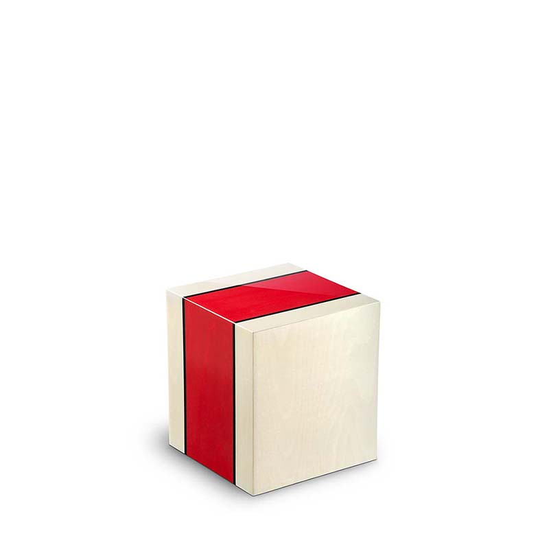 Rechthoekige Miniurn Fenice Venezia Rosso (0.1 liter)