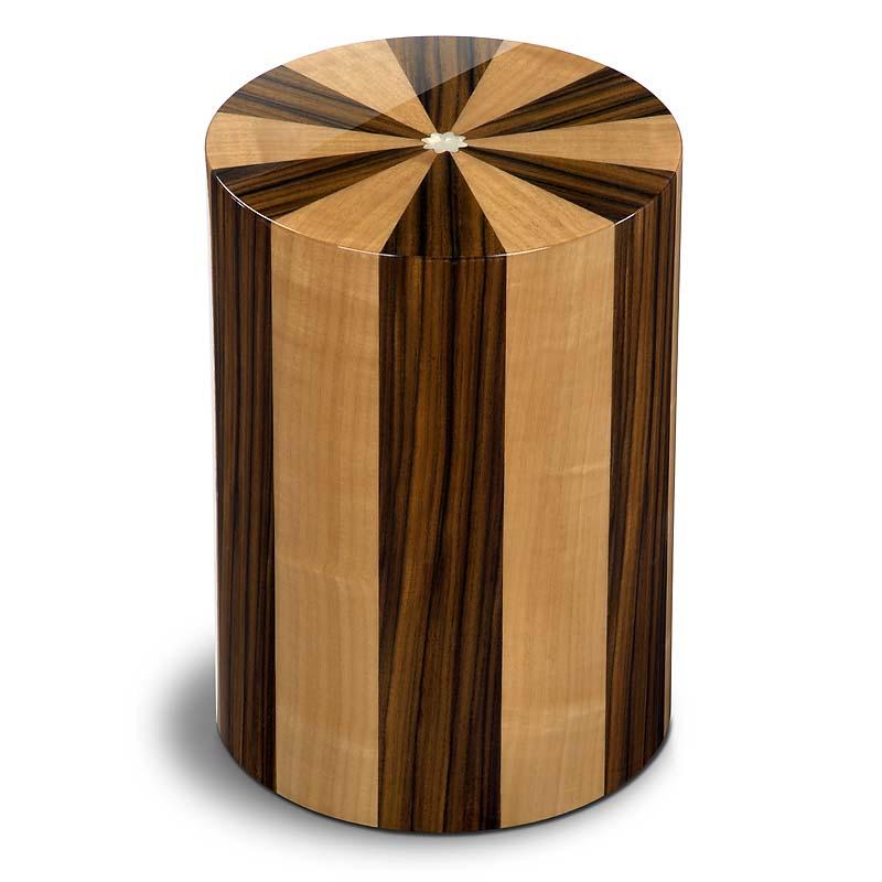 Cilinder Urn Pisa Noce Palisandro (7 liter)