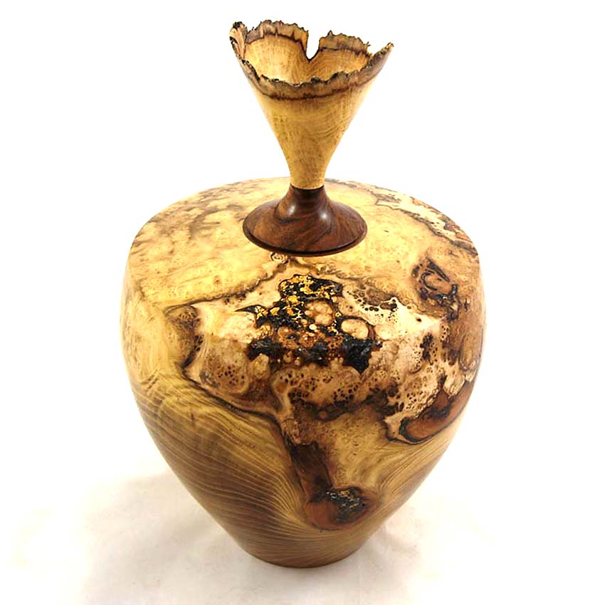 Herinneren in Hout Urn uit Robinia (3.6 liter)