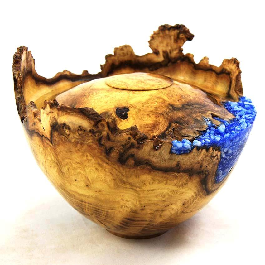 Herinneren in Hout Urn uit Robinia (1 liter)