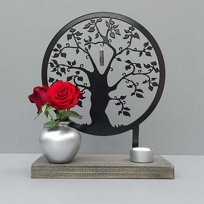 Dieren Gedenkaltaar Herinneringsboom, Zwart of Wit (28 cm.)