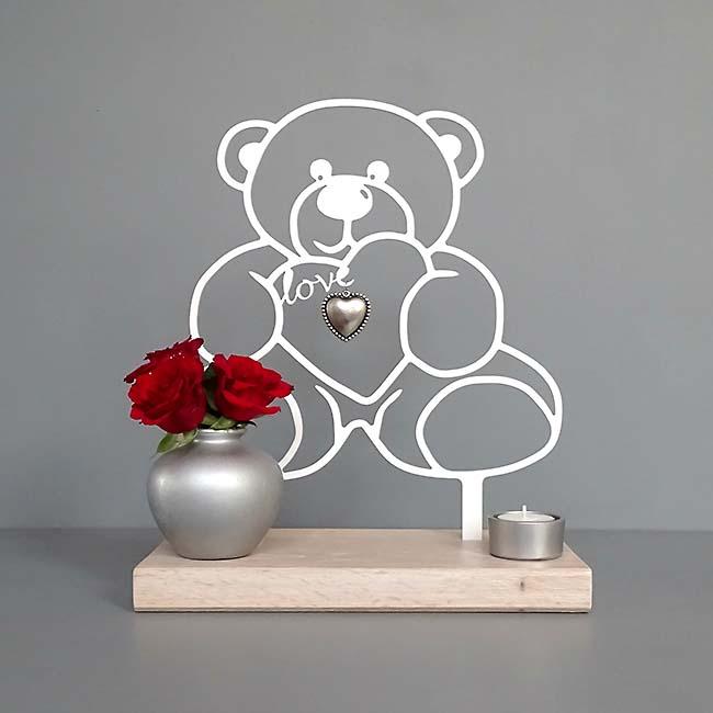 Gedenkaltaar Teddybeer, Zwart of Wit
