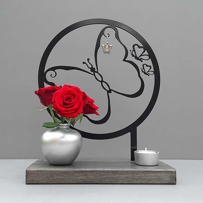 Dieren Gedenkaltaar Mijn Vlinder, Zwart of Wit (28 cm.)