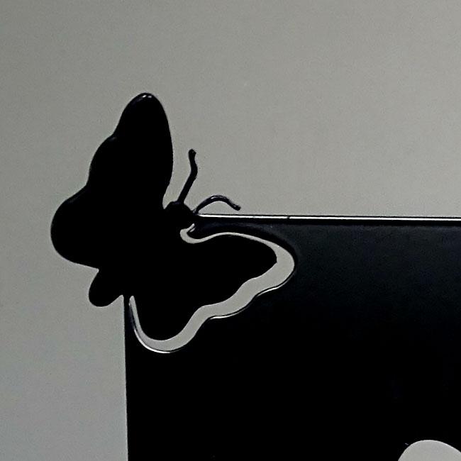 Dieren Gedenkaltaar Als Vlinder Weggefladderd, Zwart of Wit (28 cm)