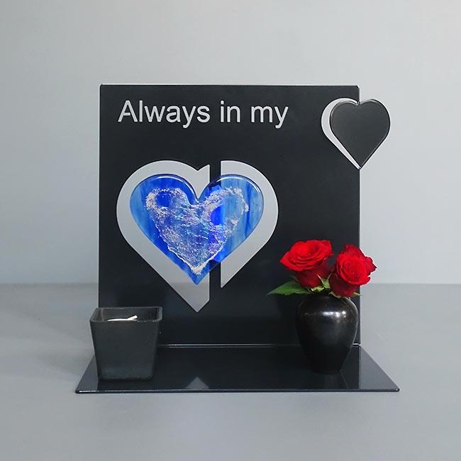 Dieren Gedenkaltaar Always in my Heart, Zwart of Wit (0.002 liter)