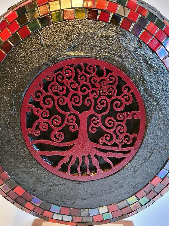 Extra Grote Indian Treasure Design Urn op Sokkel (ca. 6 liter)