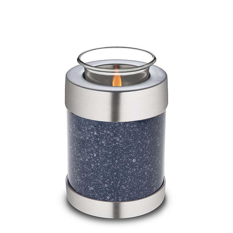 LoveUrns Kaarshouder Urn Gespikkeld Indigo (0.45 liter)