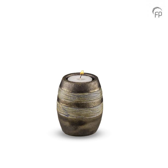 Middelgrote Keramische Urn Bruin-Grijs (1.6 liter)