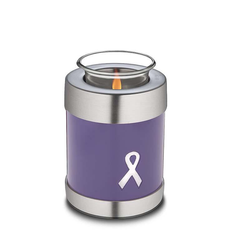 Urn met Waxinelichtje Purple Ribbon (0.45 liter)