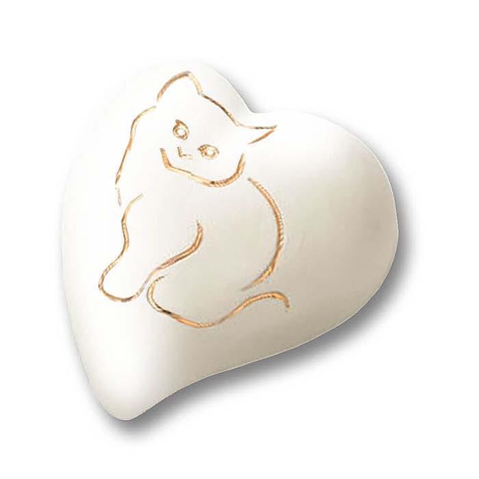 Witte Hart Urn, Gouden Kat (0.8 liter)