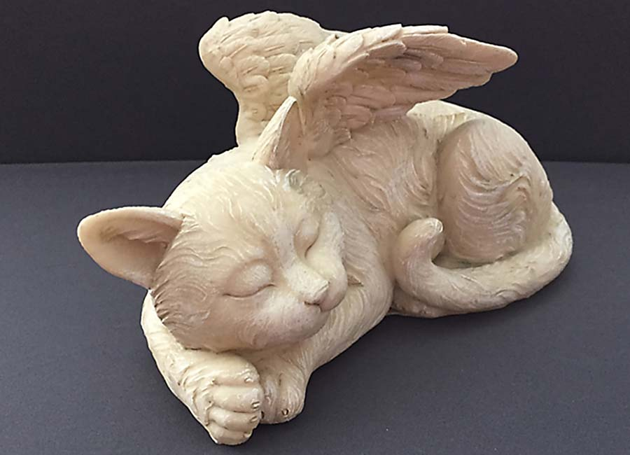 Katten Urn met Engel Vleugels (1 liter)
