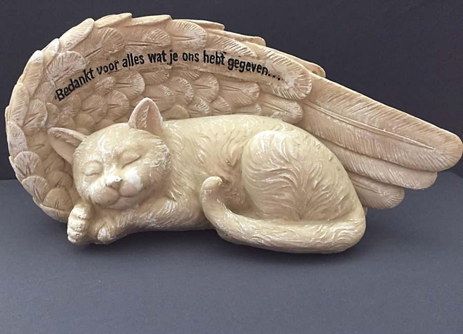 Katten Urn met Engel Vleugels (1.5 liter)