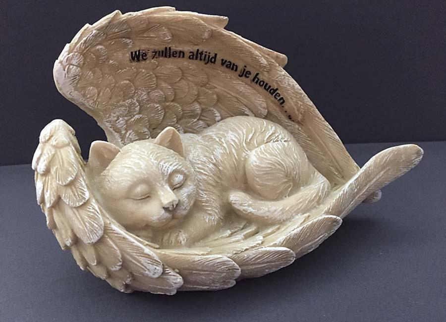 Katten Urn met Engel Vleugels (0.6 liter)