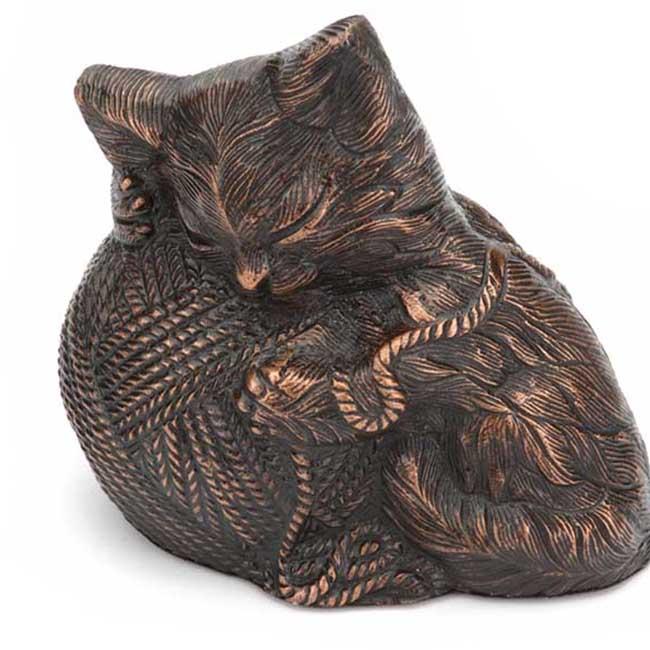 Precious Kitty Cat Urn Bronze (0.8 liter)