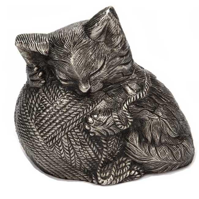 Precious Kitty Cat Urn Silver (0.8 liter)