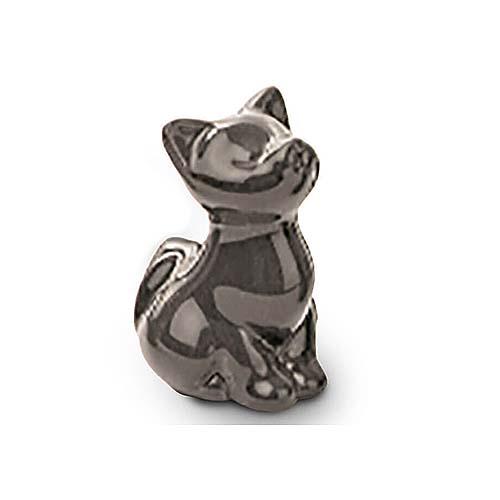 Meerkleurige Mini Dierenurn Zittend Katje (0.11 liter)