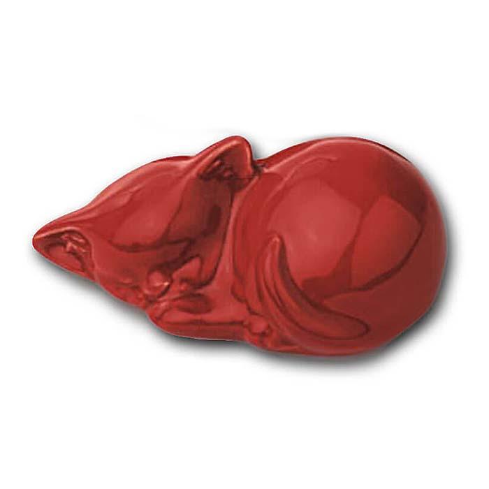 Meerkleurige Mini Dierenurn Slapend Katje (0.11 liter)