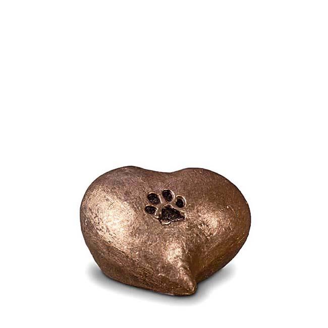 Troost Dieren Urntje Hart Pootafdrukje (0.1 liter)