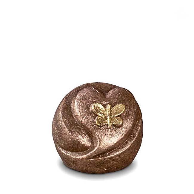 Keramisch Mini Troost Urntje Vlinderhart (0.1 liter)
