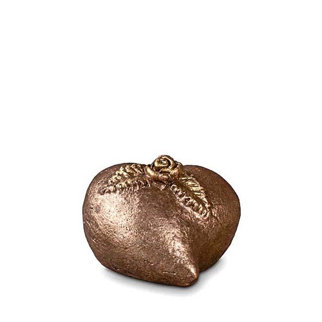 Keramisch Mini Troost Urntje Liefdesroos (0.1 liter)