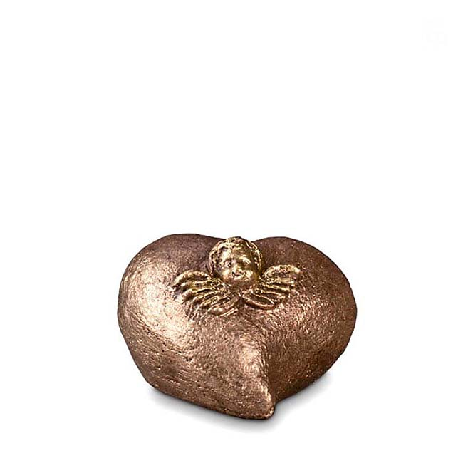 Keramisch Mini Troost Urntje Hartsengel (0.1 liter)