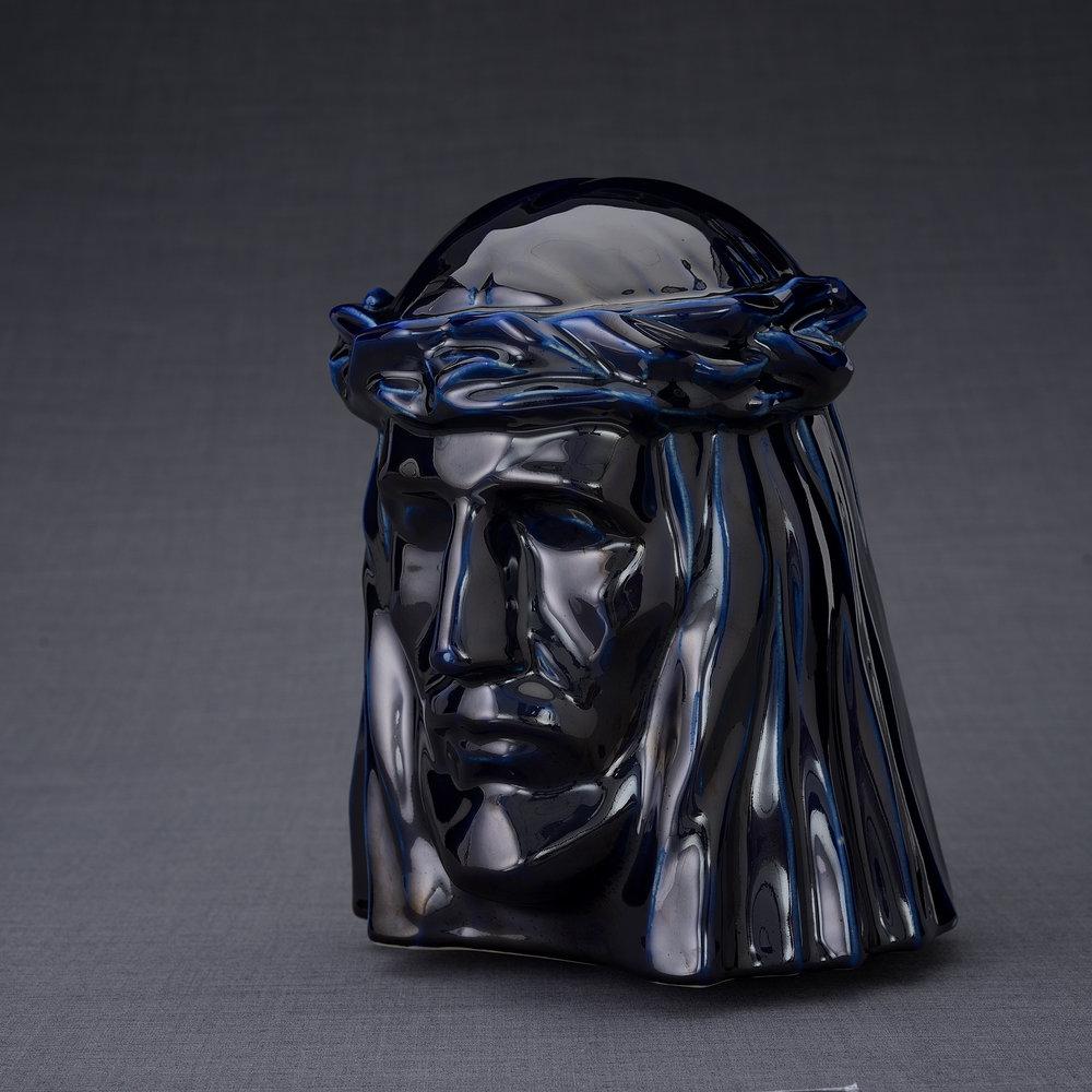 Keramische Crematie As Urn De Christus Cobalt Metallic (5.1 liter)