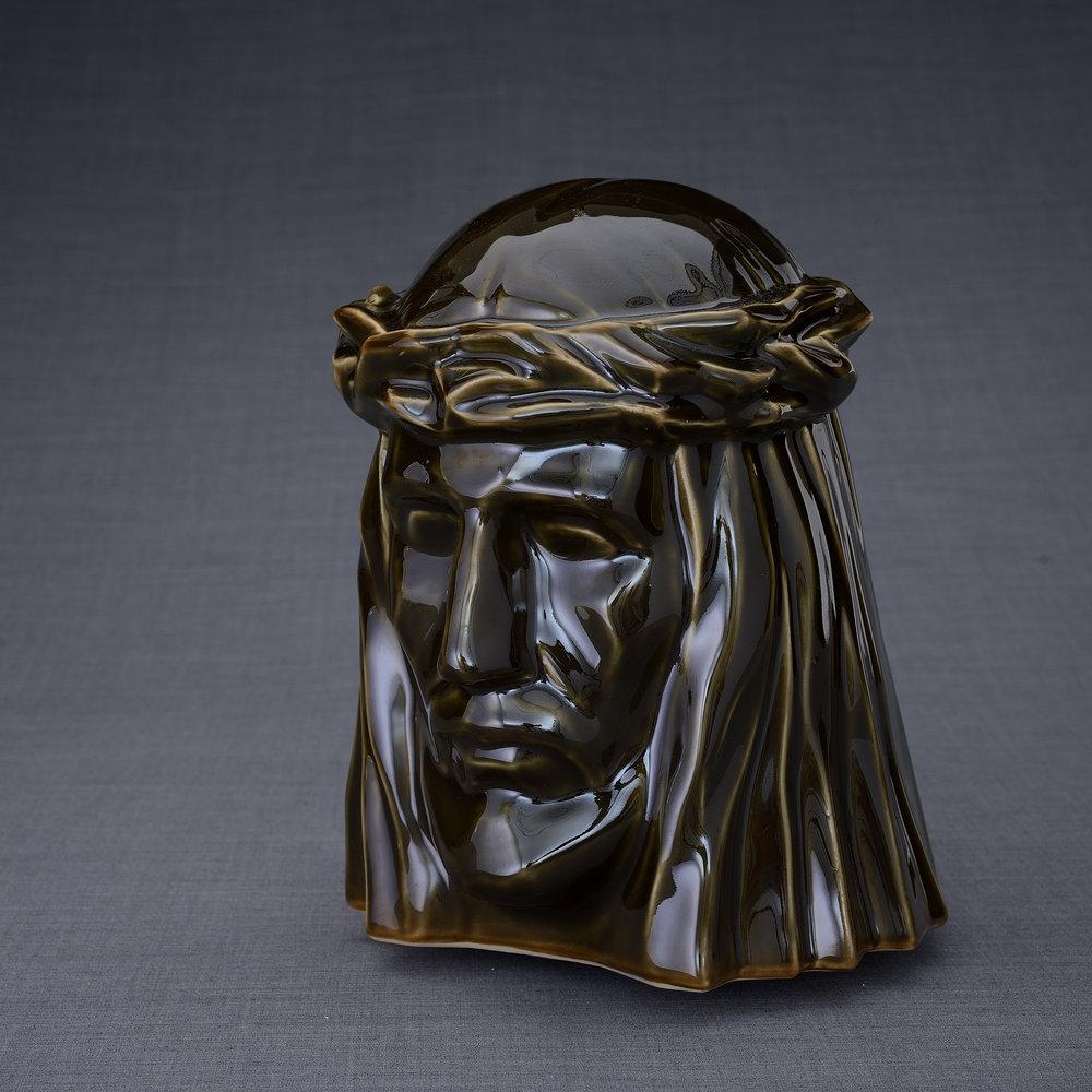 Keramische Crematie As Urn De Christus Green Oiled (5.1 liter)