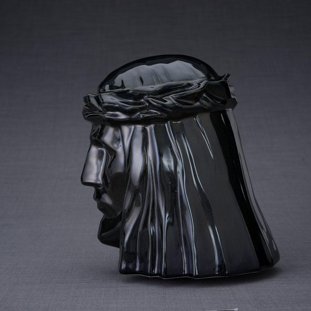 Keramische Crematie As Urn De Christus Black Gloss (5.1 liter)