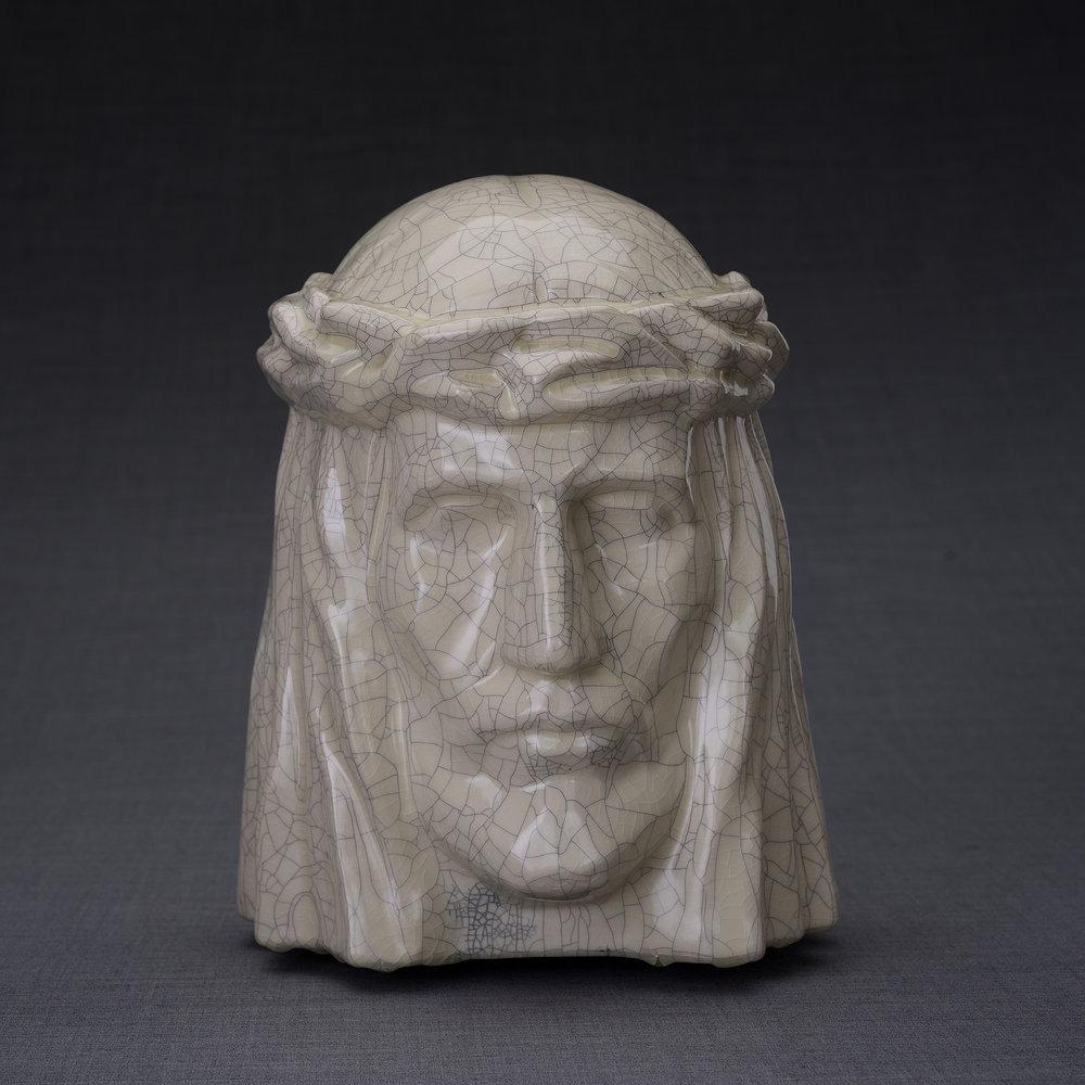 Keramische Crematie As Urn De Christus Craquele (5.1 liter)