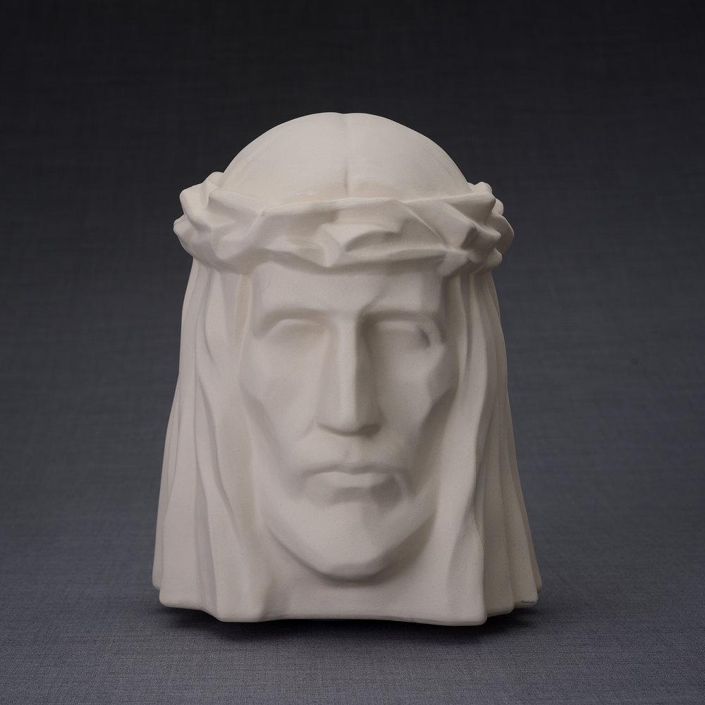 Keramische Crematie As Urn De Christus Ongeglazuurd (5.1 liter)
