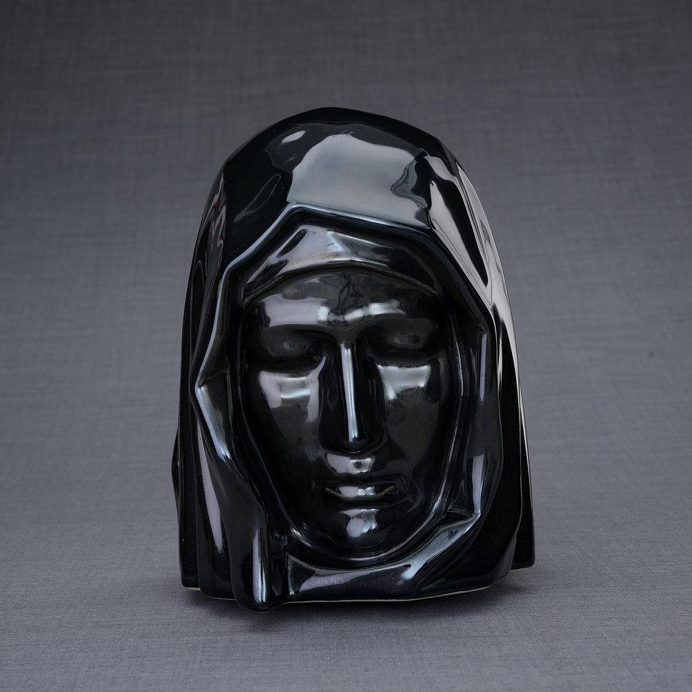 Keramische Crematie As Urn Holy Mother Black Gloss (5.1 liter)