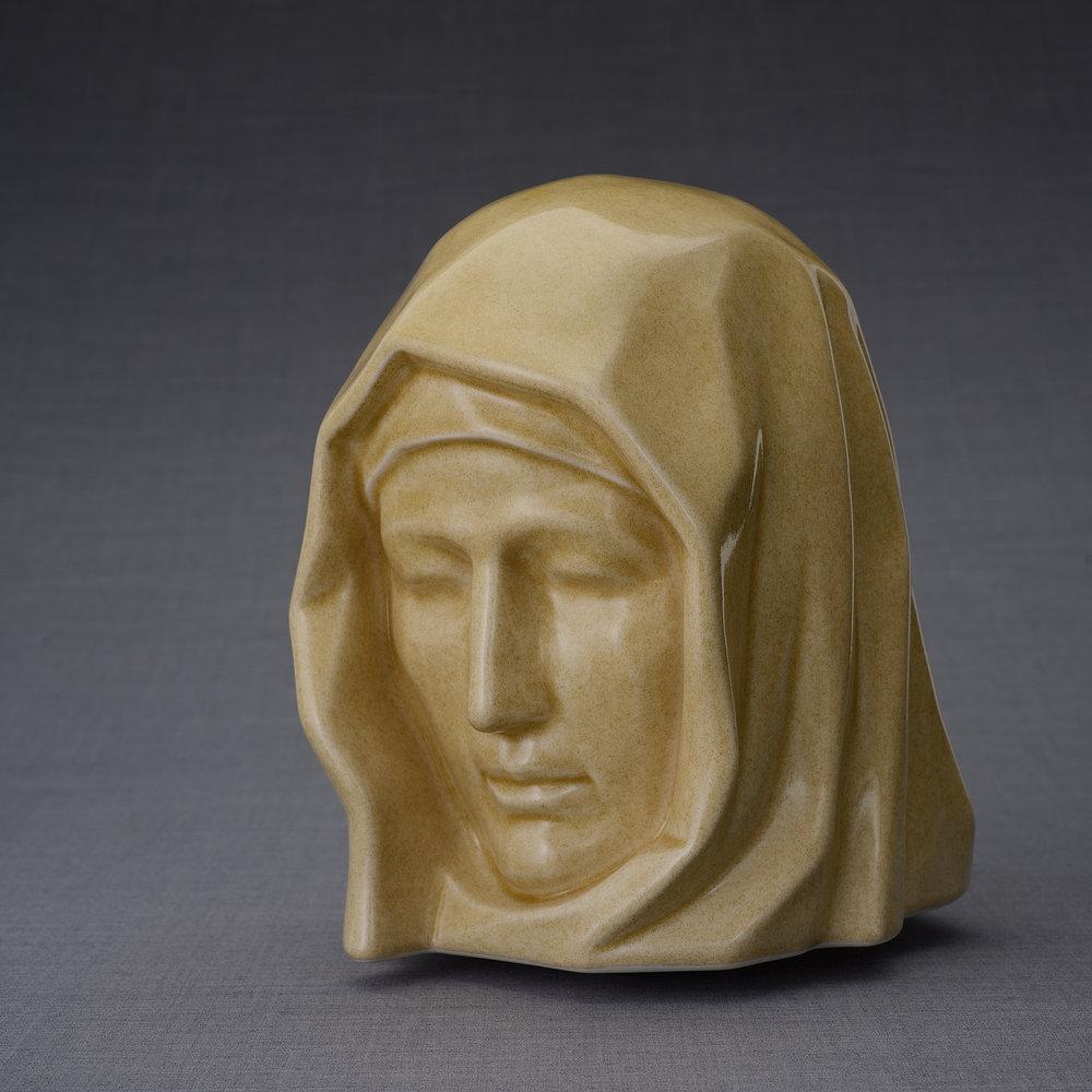 Keramische Crematie As Urn Holy Mother Light Sand (5.1 liter)