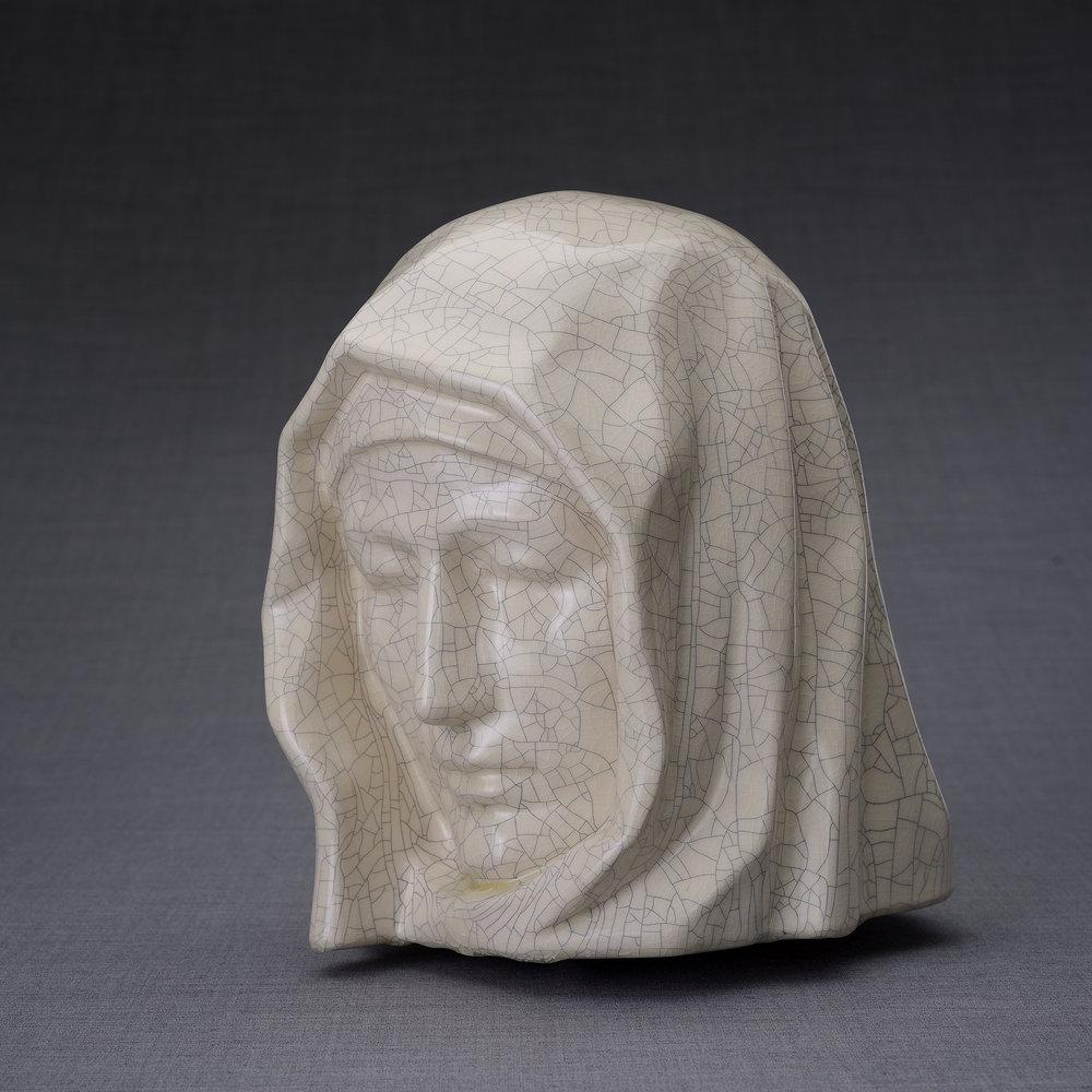 Keramische Crematie As Urn Holy Mother Craquele (5.1 liter)
