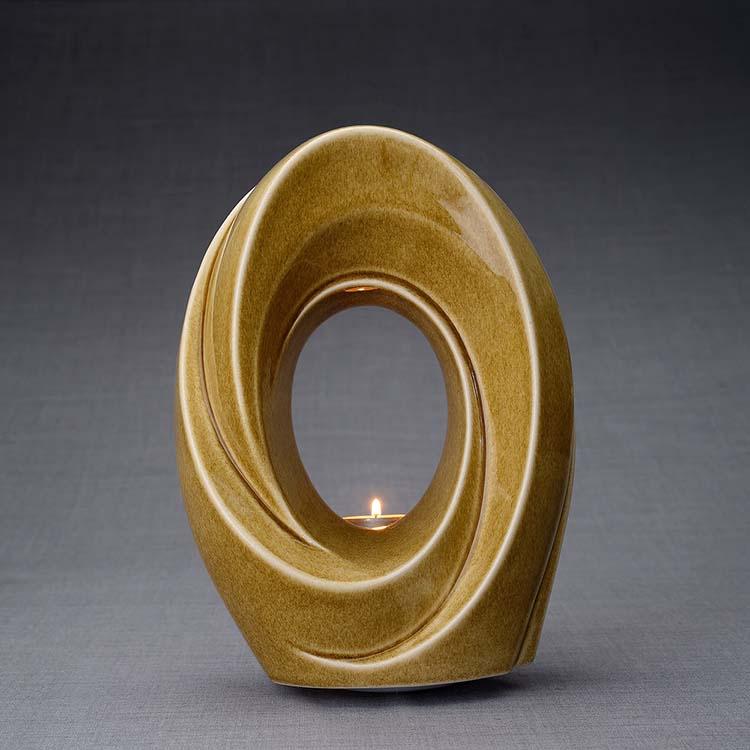 Keramische Crematie As Urn Passage Dark Sand (3.2 liter)