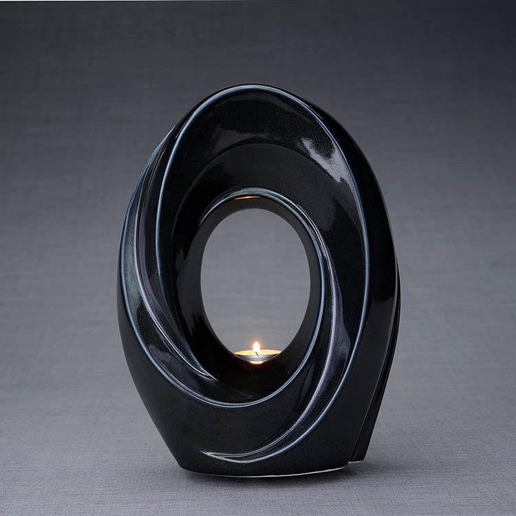 Keramische Crematie As Urn Passage Black Gloss (3.2 liter)